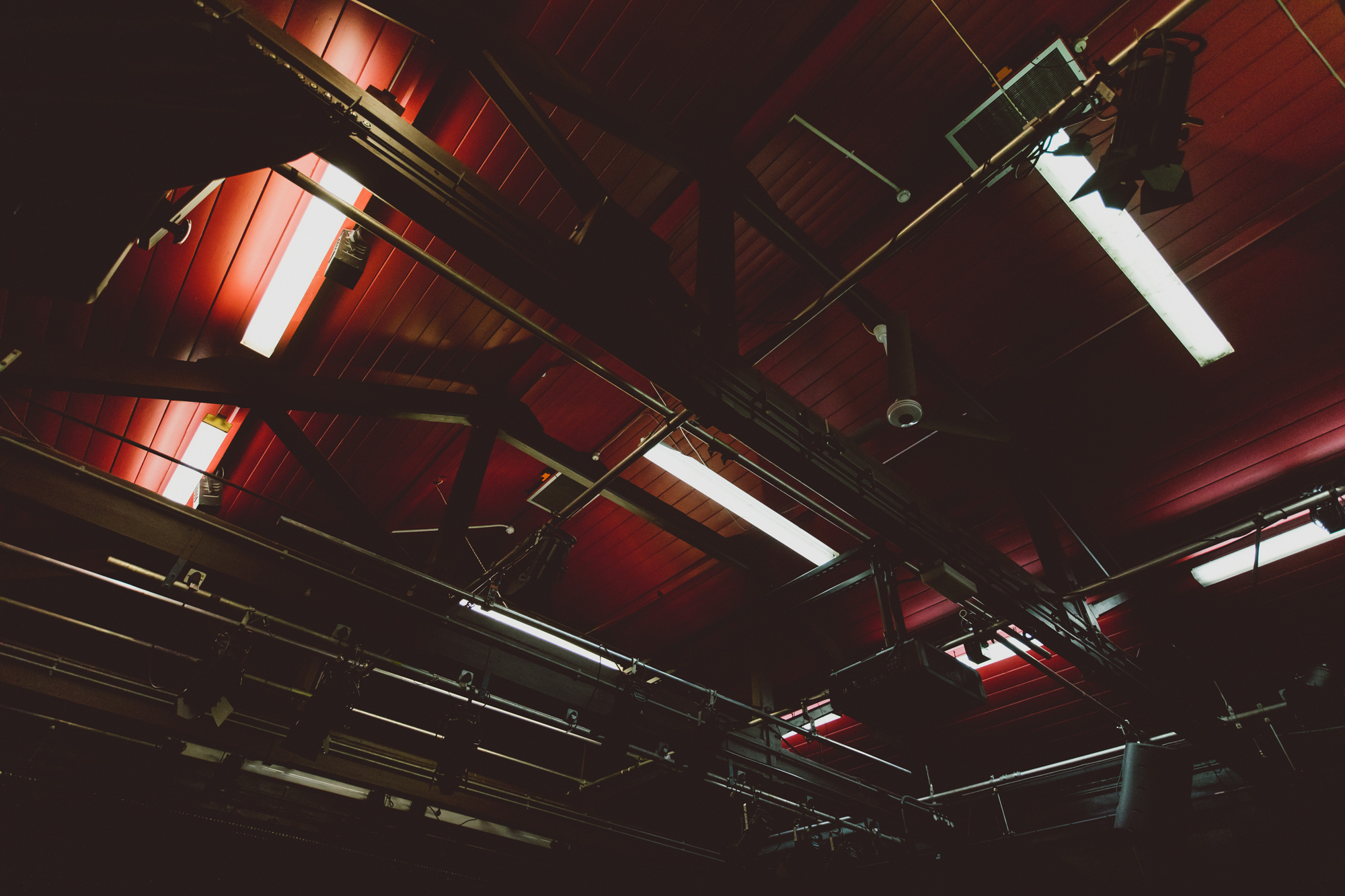 Ceiling and lights in Covent Garden Drama Studio