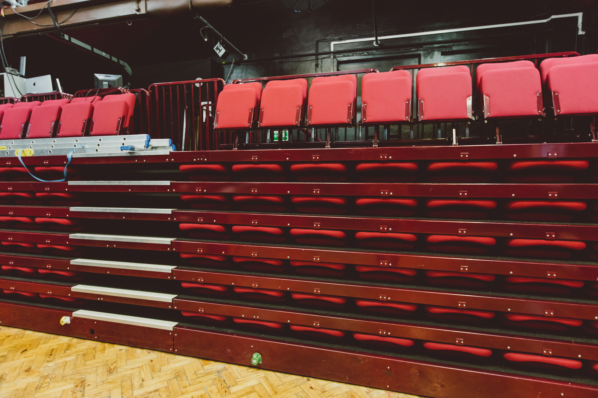 Retractable seating in Covent Garden Drama Studio