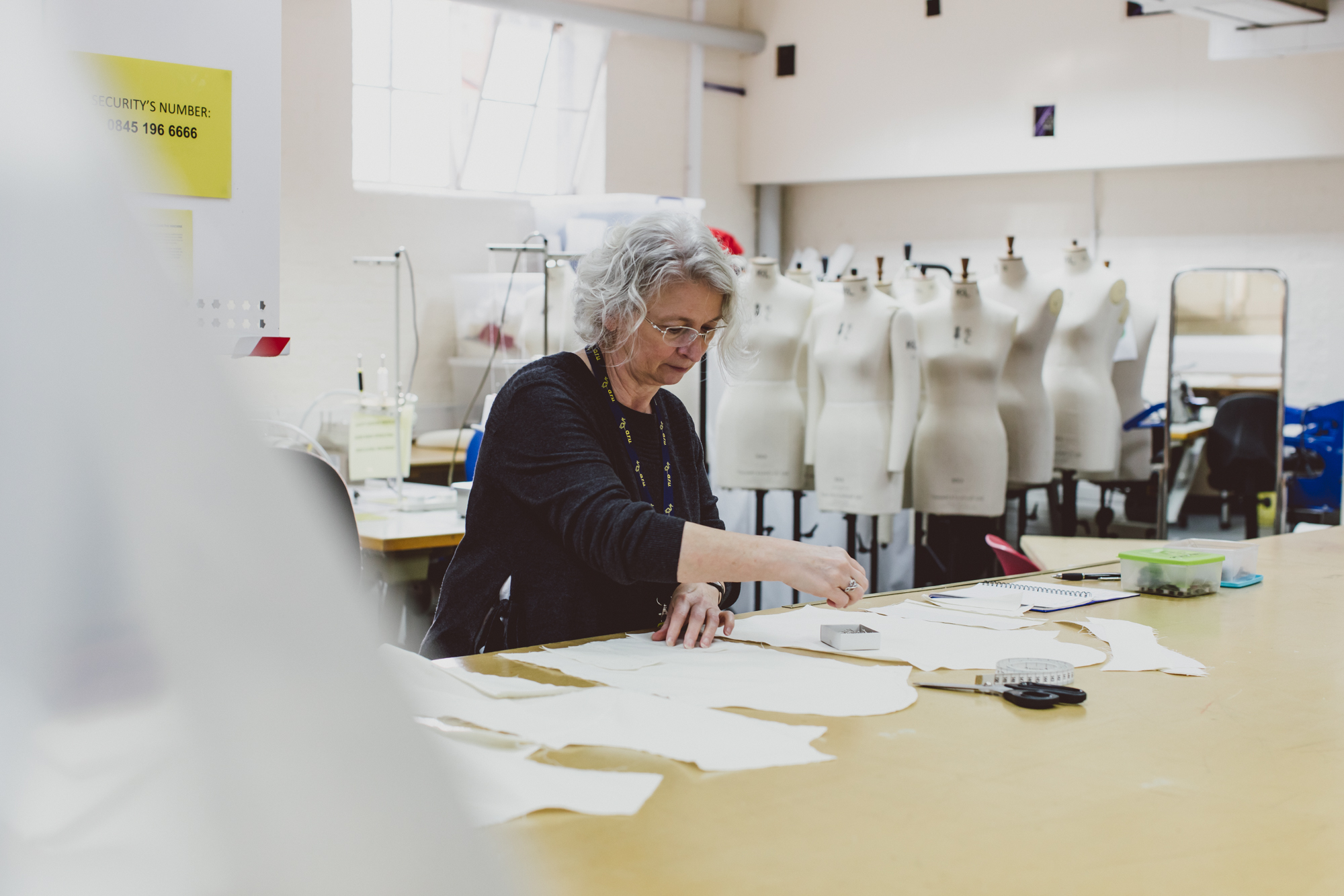 Technical Officer working in Fashion Design Studio