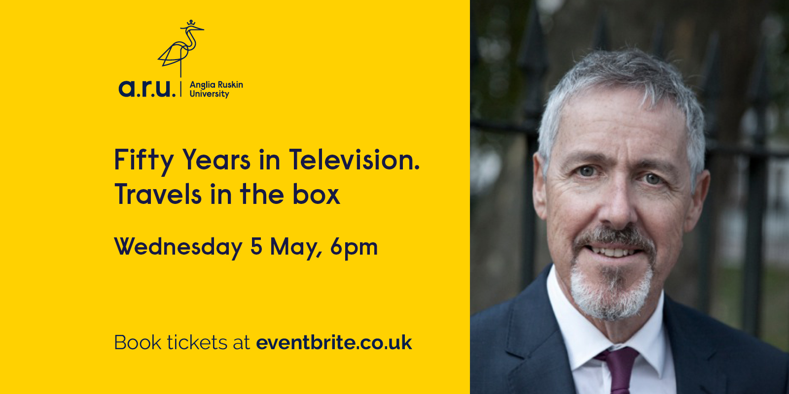 Event artwork featuring a headshot photo of Griff Rhys Jones.