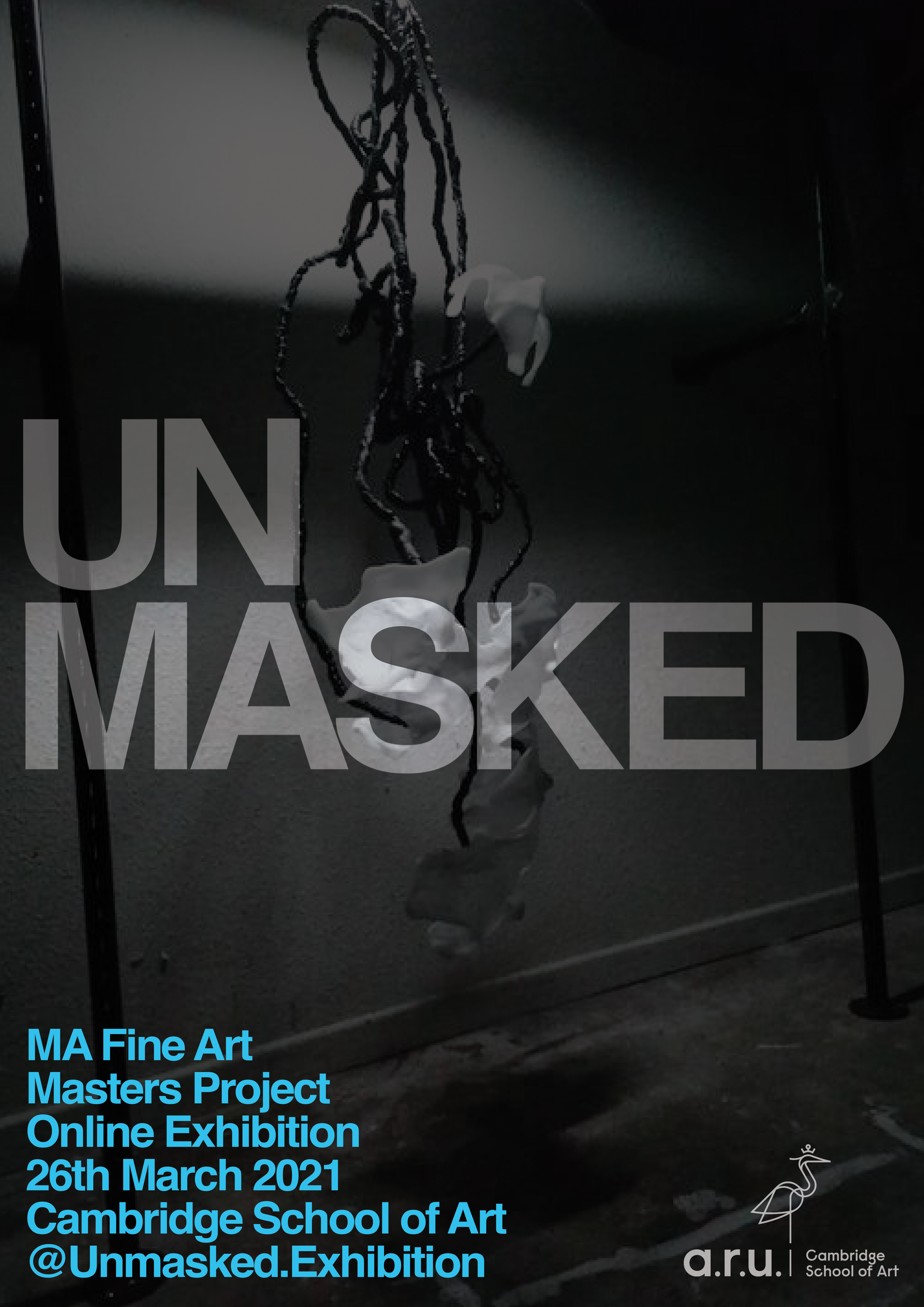 Unmasked exhibition poster.