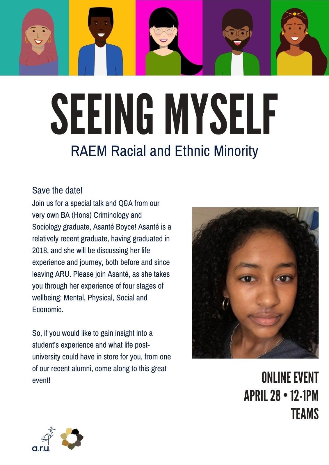 'Seeing Myself' Event Poster.